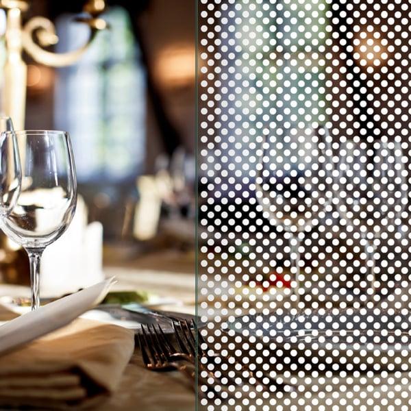 Sichtschutzfolie im Punkte-Design, Weiß – 3mm