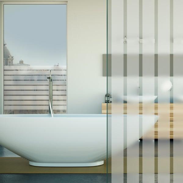 Sichtschutzfolie mit weißen Streifen, matt – 44mm Breite