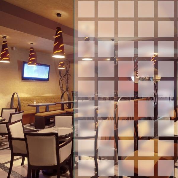 Sichtschutzfolie im 44x44mm Quadrat Design – Matt Weiß