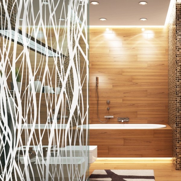 High quality visual cover film in reed decor design